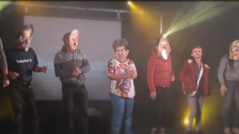 Le public sur scène