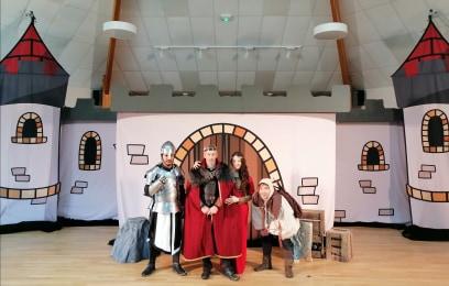 spectacle médiéval de Noël